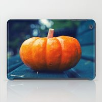 Park bench pumpkin iPad Case