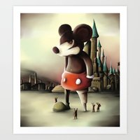 Mickey's Kingdom Art Print