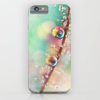 iPhone & iPod Case featuring Rainbow Smoke Drops by Sharon Johnstone