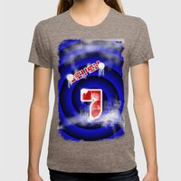 se7en Womens Fitted Tee Tri-Coffee SMALL