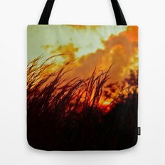 Sunset Brings the Wind Tote Bag