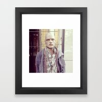 On chain Framed Art Print