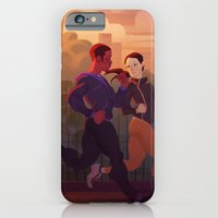 iPhone & iPod Case featuring Running buddies by Dumonchelle Draws