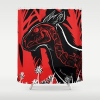 The Demon Sleeps Shower Curtain