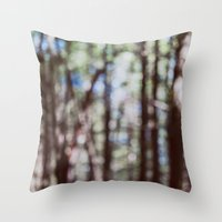 Mystify - Abstract Forest Landscape Throw Pillow
