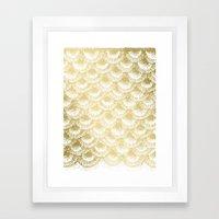 Organic Burst Gold Framed Art Print