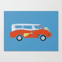 The  Monkeemobile Van Canvas Print