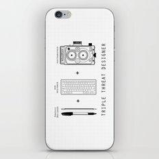 Triple Threat Designer iPhone & iPod Skin