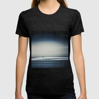 sea + surfer abstract Womens Fitted Tee Tri-Black SMALL