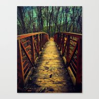 Canvas Print featuring Cross the Bridge. by Bjørn Svendsen