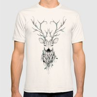 Poetic Deer Mens Fitted Tee Natural SMALL