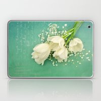 French White Tulips And … Laptop & iPad Skin