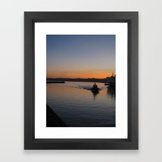 smooth sailin'. Framed Art Print