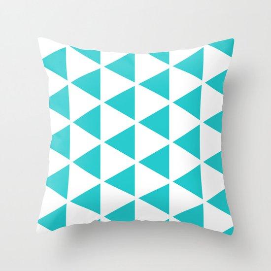 Sleyer Blue on White Pattern Throw Pillow