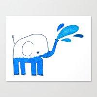 half empty elephant Canvas Print