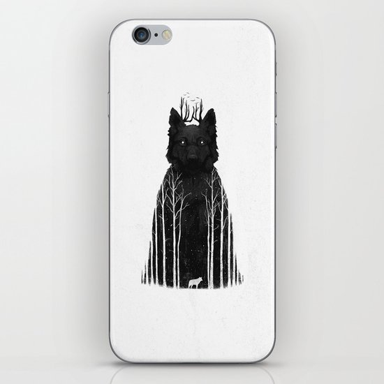 The Wolf King iPhone & iPod Skin
