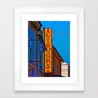 Liquors Framed Art Print