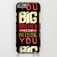 iPhone Cases featuring BIG BROTHER IS WATCHING YOU by Matthew Taylor Wilson