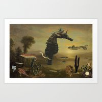 El Mar Invisible Art Print