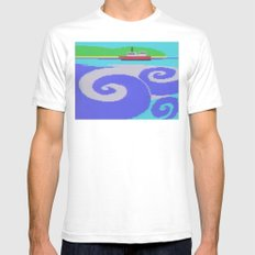 At Sea Mens Fitted Tee White SMALL