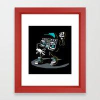 Beatbox Boombox2 Framed Art Print
