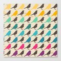 Colorful birds pattern Canvas Print