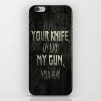 Your Knife My Back! iPhone & iPod Skin