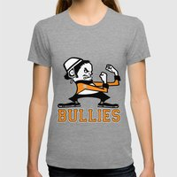 Bullies of Broad Street  Womens Fitted Tee Tri-Grey SMALL