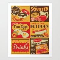Retro Kitchen Advertising (no. 2) Art Print