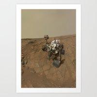 NASA Curiosity Rover's Self Portrait at 'John Klein' Drilling Site in HD Art Print