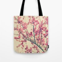 Cherry Pink Spring Blossoms of Ornamental Peach Tree Tote Bag