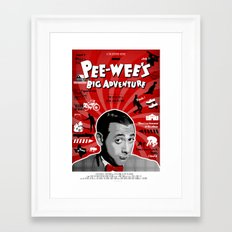 Pee-wee's big adventure Framed Art Print