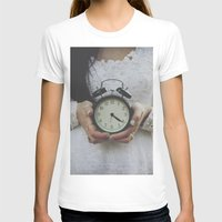Ticking Womens Fitted Tee White SMALL