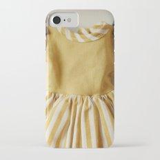 Doll Closet Series - Mustard Stripe Dress iPhone 7 Slim Case
