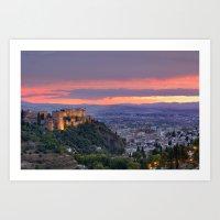 The Alhambra And Granada… Art Print