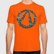 Borderlands 2 Mens Fitted Tee Orange SMALL