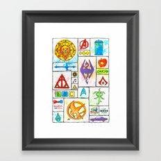 Fandoms Framed Art Print