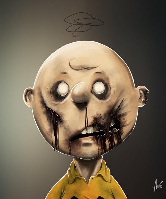 Zombie Charlie Brown  Art Print