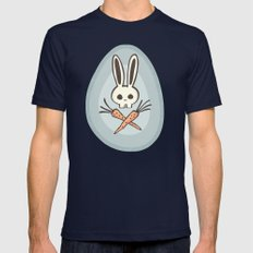 Skull Bunny Mens Fitted Tee Navy SMALL