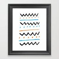 Better Pattern Framed Art Print