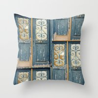 Door, Athens Throw Pillow