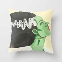 Bride Of Frank Throw Pillow