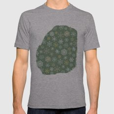 christmas snowy green Mens Fitted Tee Athletic Grey SMALL