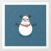 Day 16/25 Advent - Snow Trooper Art Print