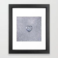 Diamond Love Framed Art Print