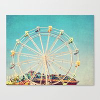 Boardwalk Ferris Wheel Canvas Print