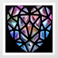 Stained Glass Heart Art Print