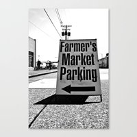 Canvas Print featuring Market Parking Here by Vorona Photography