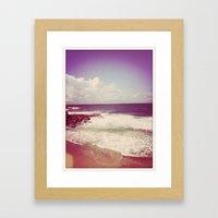 Winter Waves Framed Art Print