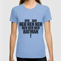 The Bat's Song Womens Fitted Tee Athletic Blue SMALL